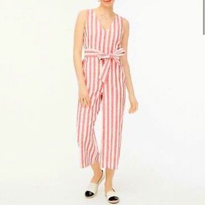 J. CREW Striped Linen Jumpsuit Romper sz 16